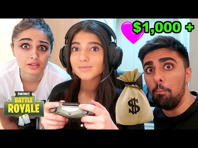I Gave My Little Sister $1000+ For Every Kill In Fortnite: Battle Royale!