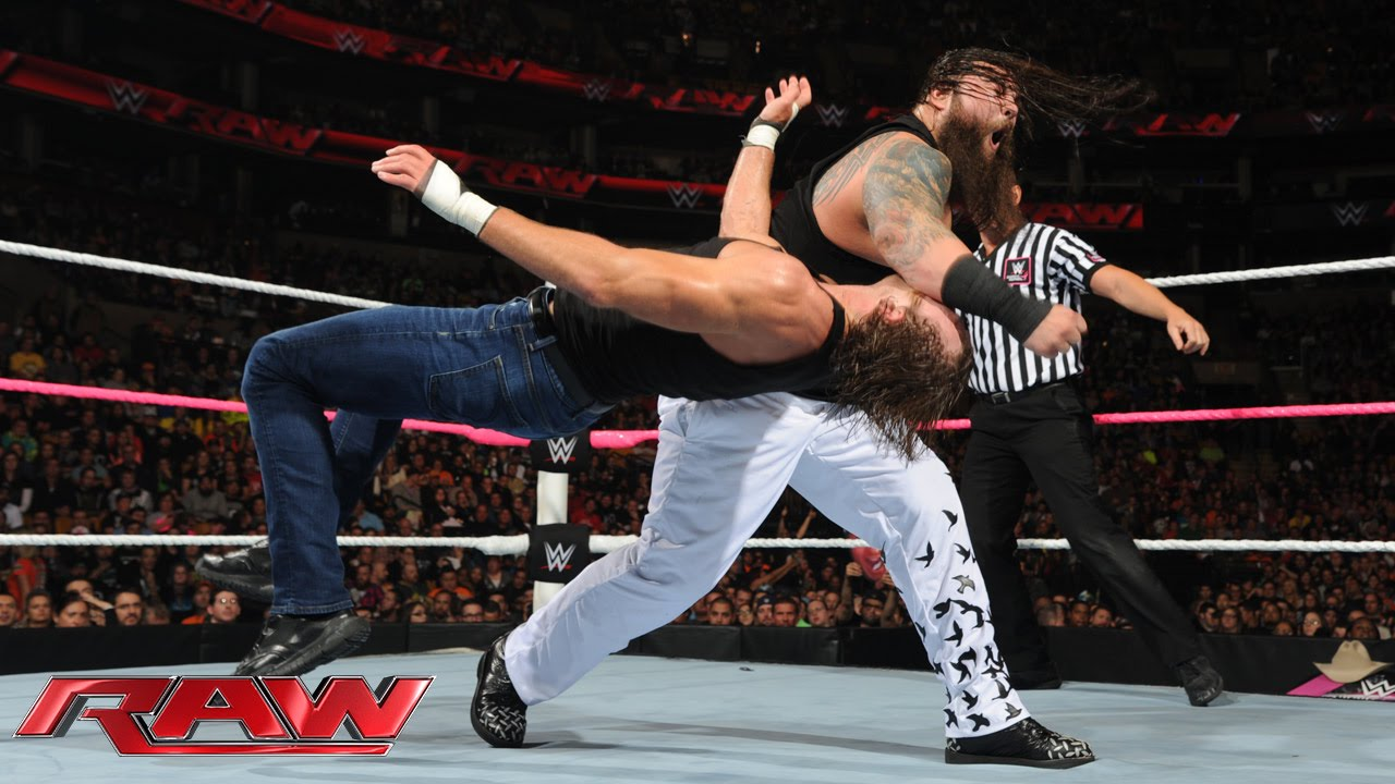 Roman Reigns Dean Ambrose Randy Orton Vs The Wyatt Family Raw Oct 5 2015