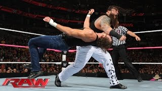 Roman Reigns, Dean Ambrose & Randy Orton vs. The Wyatt Family: Raw, Oct. 5, 2015