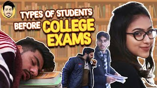 types of students before exams