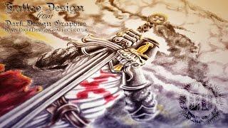 Custom Tattoo Design - Knights Templar Forearm Sleeve