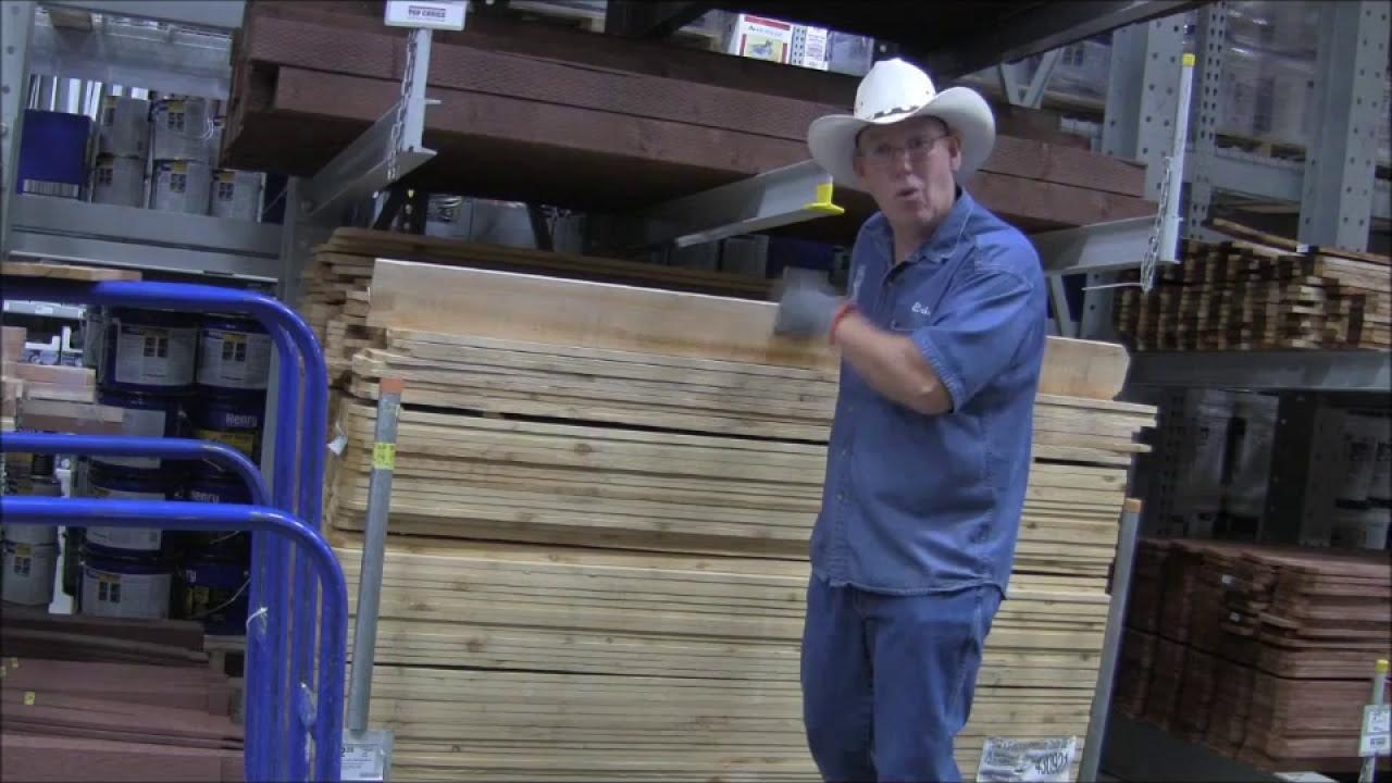#136 Trip to Lowes to show how I chose Cedar Boards