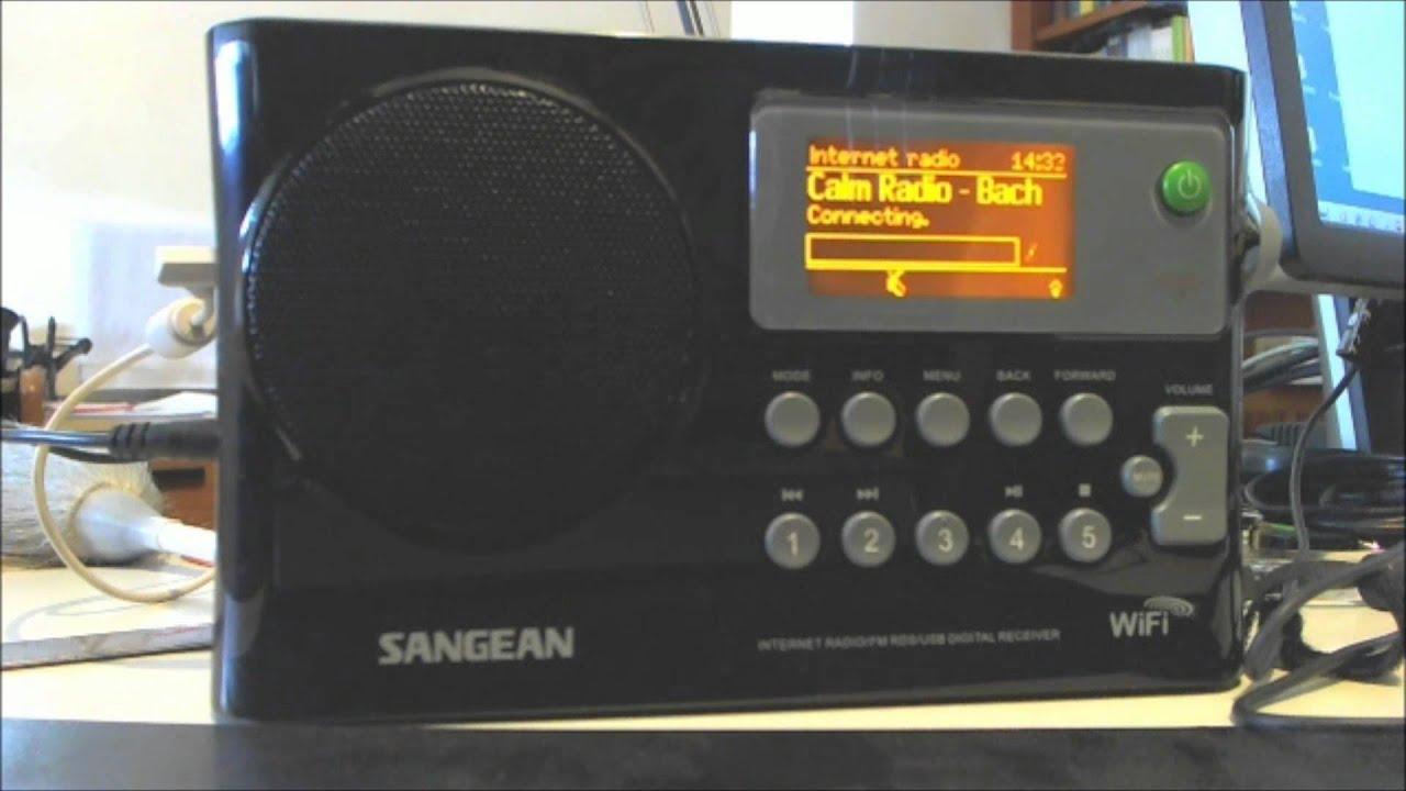 Sangean Internet Radio WFR 28 - YouTube