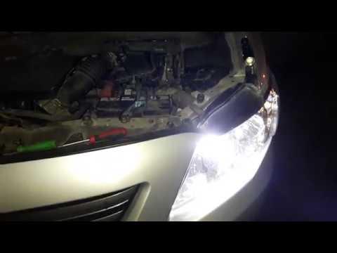 Регулировка фар на автомобиле . Замена ламп в фарах на  Toyota corolla