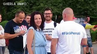 Protest Gherla - Fără penali (Cluj) 10 08 2018