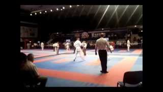JACKY DETAILLE (FRA) Vs BRIAN HALL (ENG): WUKF KARATE WORLD Chps 2013: 2nd round