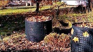 Компостная куча / вертикальная грядка из сетки и спанбонда(В этом видео я покажу и расскажу, как я сделал компостную кучу она же вертикальная грядка и клумба из сетки..., 2013-10-17T21:56:15.000Z)