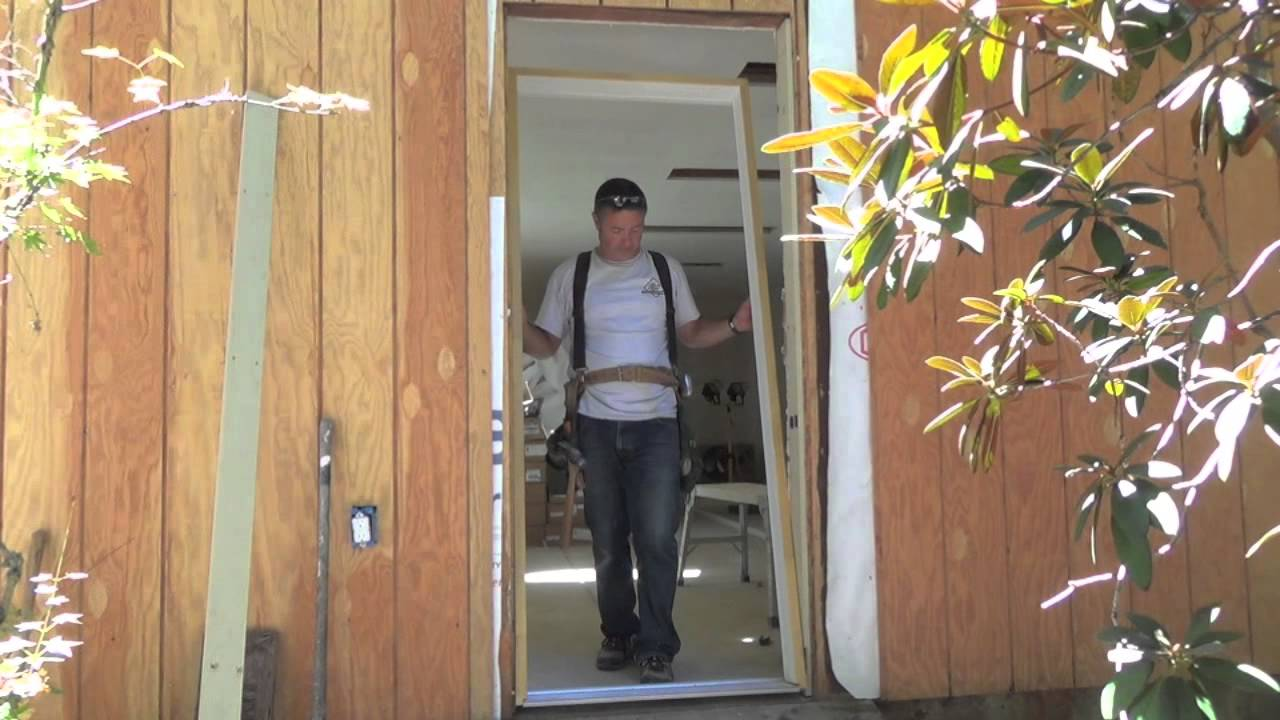 How to install a pre hung door steel door exterior door - How to install a prehung exterior door ...