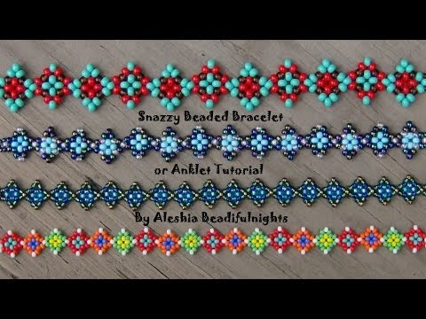 Snazzy Beaded Bracelet or Anklet Tutorial