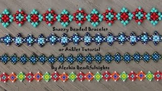 Repeat youtube video Snazzy Beaded Bracelet or Anklet Tutorial