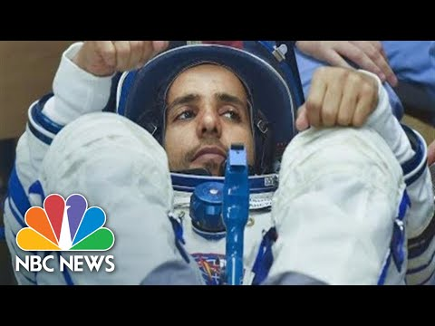 Russian Soyuz Rocket Launches First Astronaut From UAE To International Space Station | NBC News