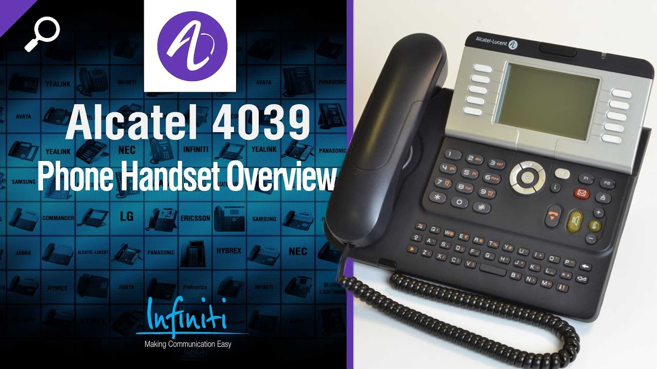 alcatel 4039 phone handset overview infiniti telecommunications rh youtube com alcatel 4039 instruction manual Alcatel- Lucent