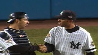 2001 ws gm3 mariano gets six outs for the save