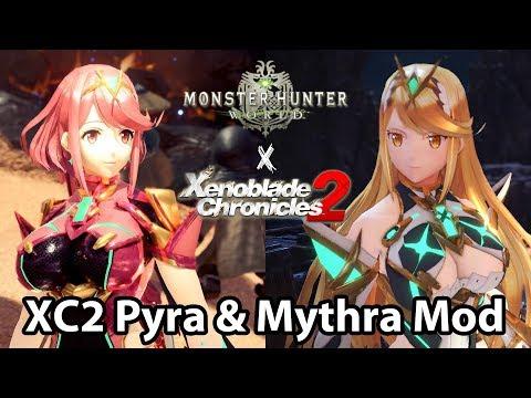 MHWorld Mod | Xenoblade Chronicles 2 Pyra & Mythra character models