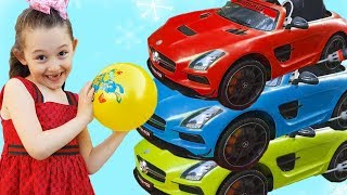 Öykü Could not Change the Colors of Cars-fun kid video