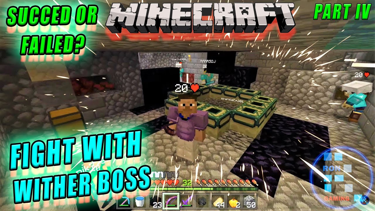 Minecraft | We Finally Killed Wither Boss With Failproof Plan