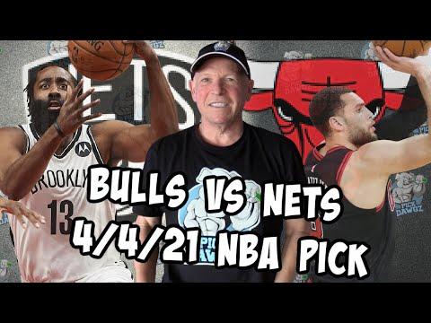 Chicago Bulls vs Brooklyn Nets 4/4/21 Free NBA Pick and Prediction (NBA Betting Tips)