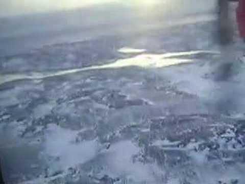 Flying over Nunavut Tundra