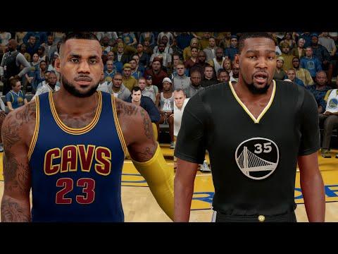 Kevin Durant & The Warriors Vs. Lebron James & The Cavs - NBA Finals 2017 | NBA 2K16 Sim