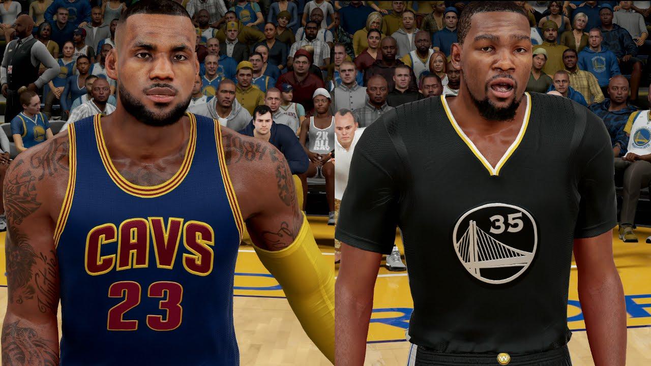 Kevin Durant & The Warriors Vs. Lebron James & The Cavs - NBA Finals 2017 | NBA 2K16 Sim - YouTube