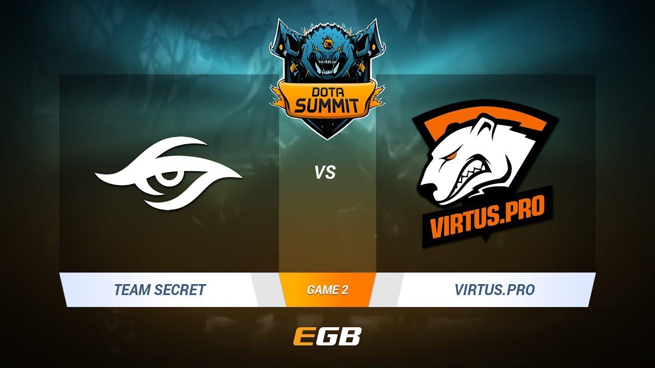 Team Secret vs Virtus.Pro, Game 2, DOTA Summit 7 LAN-Final, Day 5