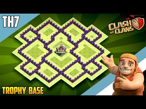 New INSANE TH7 HYBRID/TROPHY[defense] Base 2018!!  Town Hall 7 Hybrid Base Design - Clash of Clans