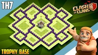 New INSANE TH7 HYBRID/TROPHY[defense] Base 2018!!  Town Hall 7 Hybrid Base Design - Clash of Clans