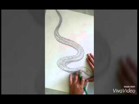 tuto dessiner un serpent en 3d youtube. Black Bedroom Furniture Sets. Home Design Ideas