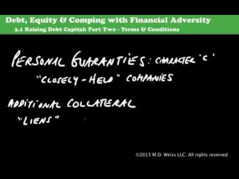 3.1: Raising Debt Capital Part Two: The Underwriting Process, continued
