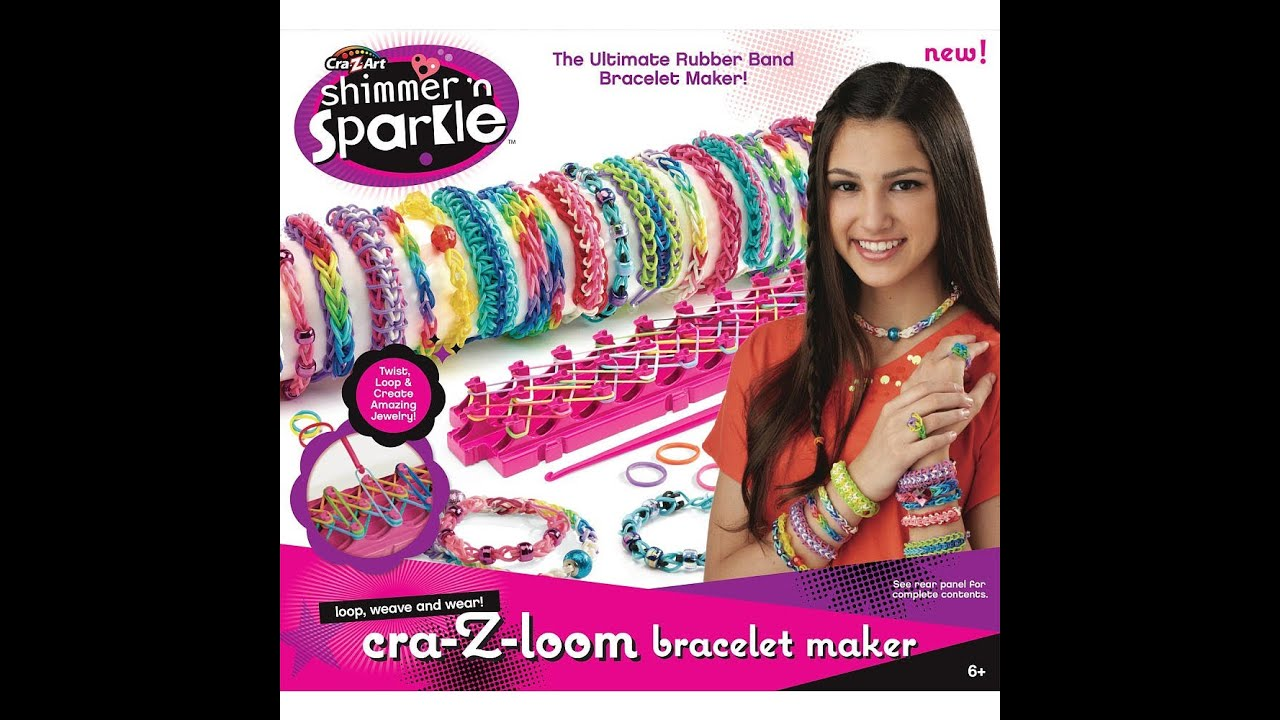 Shimmer N Sparkle Cra Z Loom Rubber Band Bracelet Maker Vs