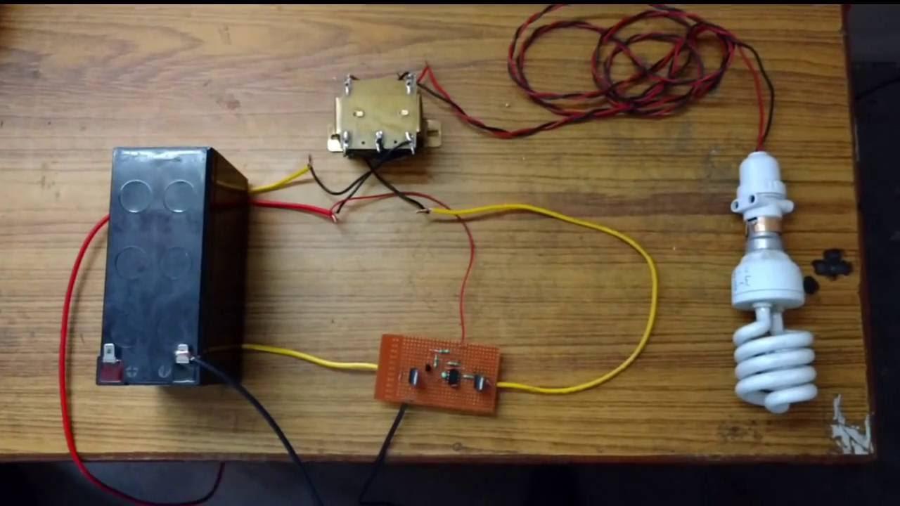 Simple 12 v DC to 220 V AC Inverter  YouTube