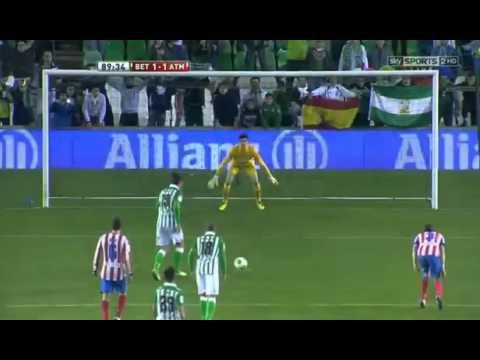 Gol De Jorge Molina - Real Betis 1 X 1 Atletico Madrid - Copa Do Rei - 24/01/2013