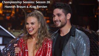 Championship Seasons: Season 28 Hannah Brown & Alan Bersten
