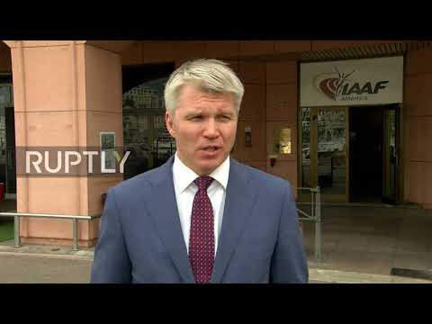 Monaco: Russian sports minister meets IAAF chief on reinstatement