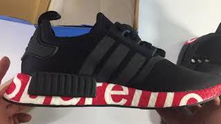 UA Adidas Supreme NMD R1 Black + Red