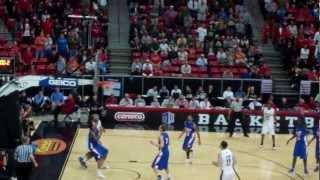 sdsu aztecs basketball jamaal franklin mwc tourny 2012 buzzer beater vs boise state