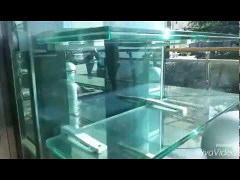 Glass KONE Ecodisc elevator in San Marino