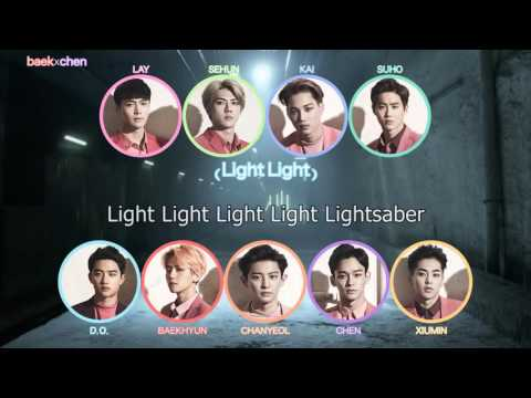 EXO - Lightsaber Colour-coded Lyrics
