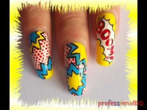 Pop Art Nails Collab With Superminx66 Youtube