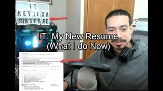 IT: My New Resume (What I do Now)