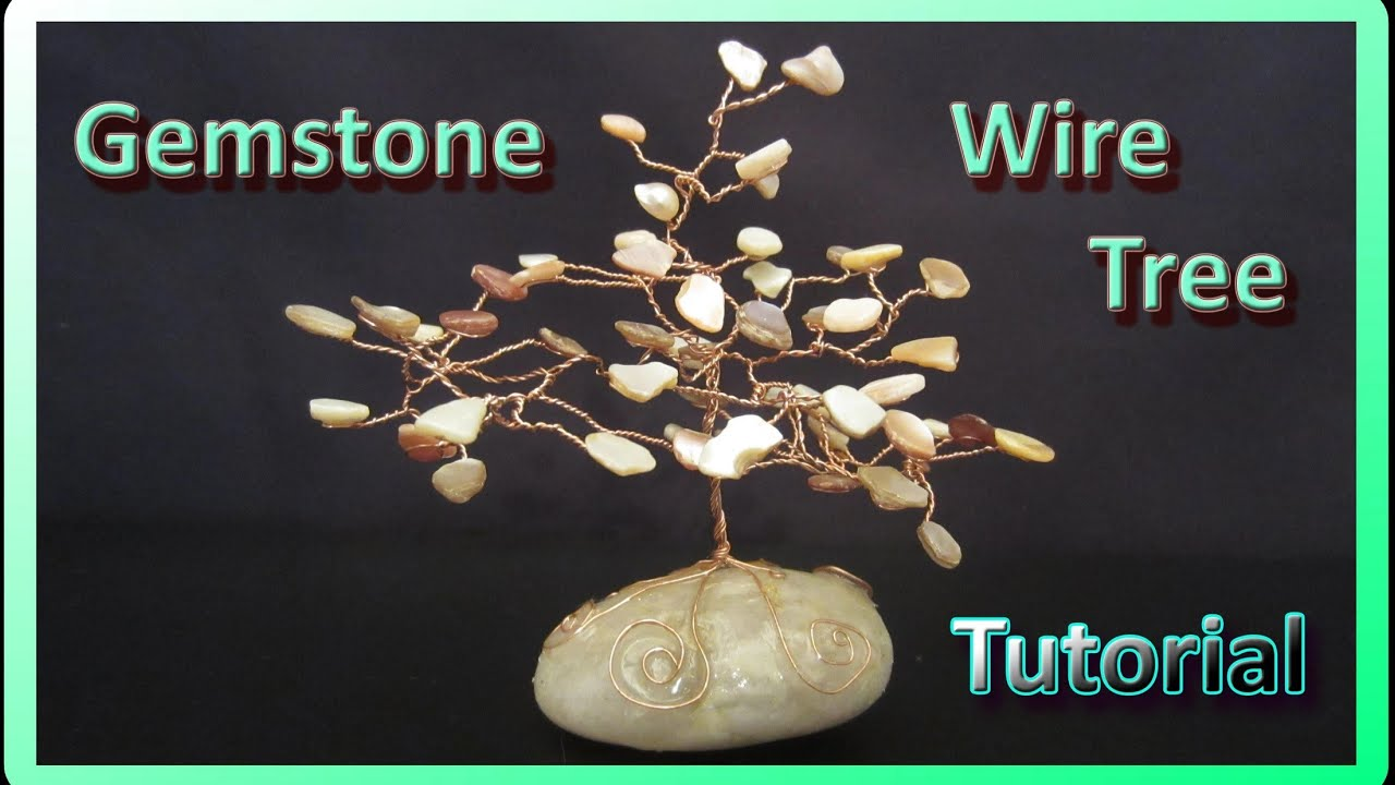 How to make gemstone wire trees youtube for How to make a wire tree of life sculpture