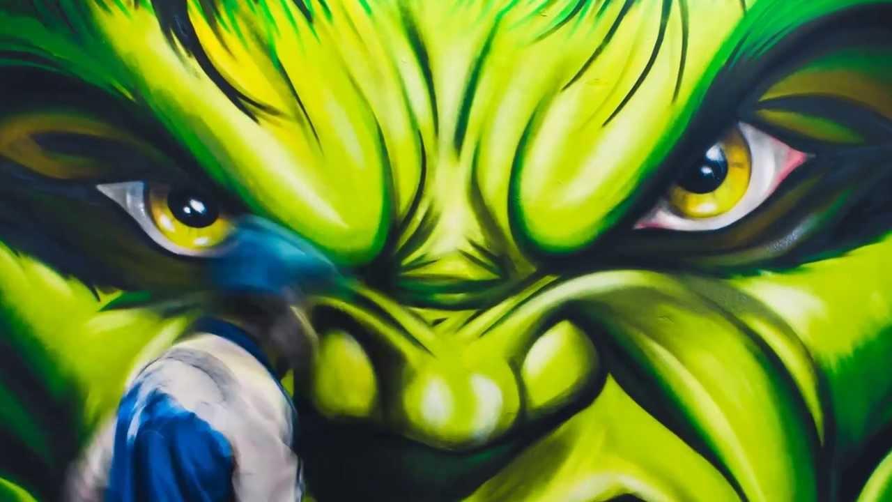 Zdesroy Hulk Graffiti GYM YouTube