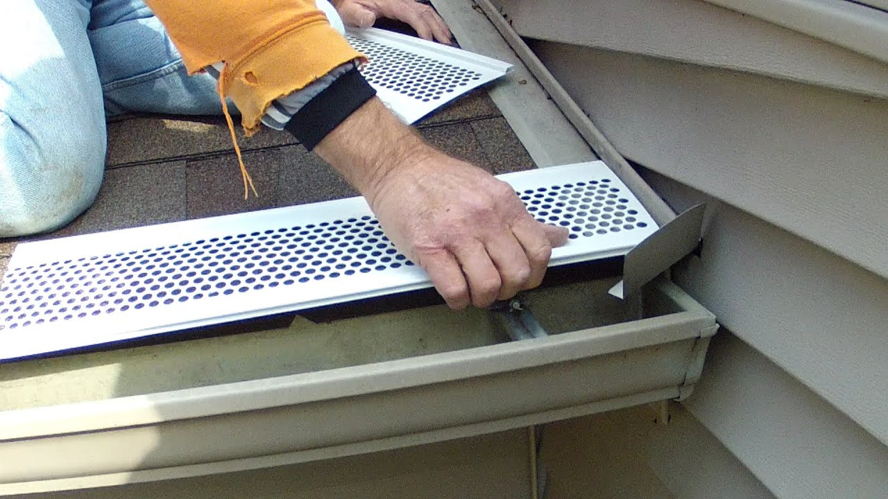 How To Install Snap On Gutter Screen Youtube