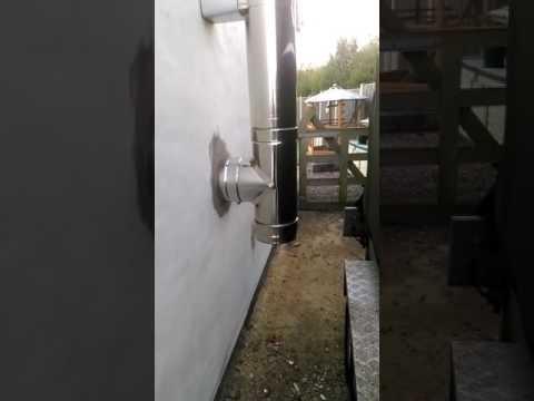 Installing a twin walled flue