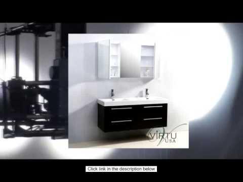 Virtu USA JD-50754-WG 54-Inch Finley Double Sink Bathroom Vanity Wenge