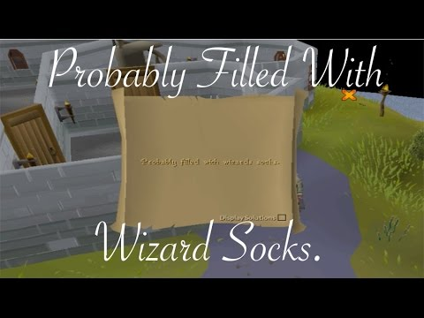 Runescape 2007 Probably Filled With Wizard Socks Clue Scroll