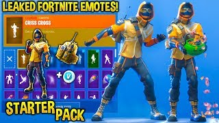 "*NEW* ""STARTER PACK"" SKIN SHOWCASE WITH FORTNITE DANCES & EMOTES!! (Summit Striker!)"