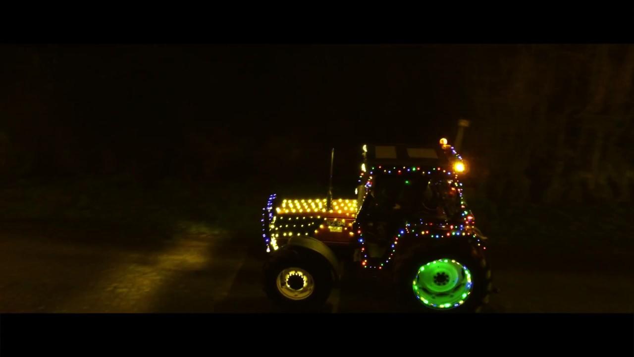 Verlichte traktorstoet/Kerstparade - Desteldonk (DRONE beelden)