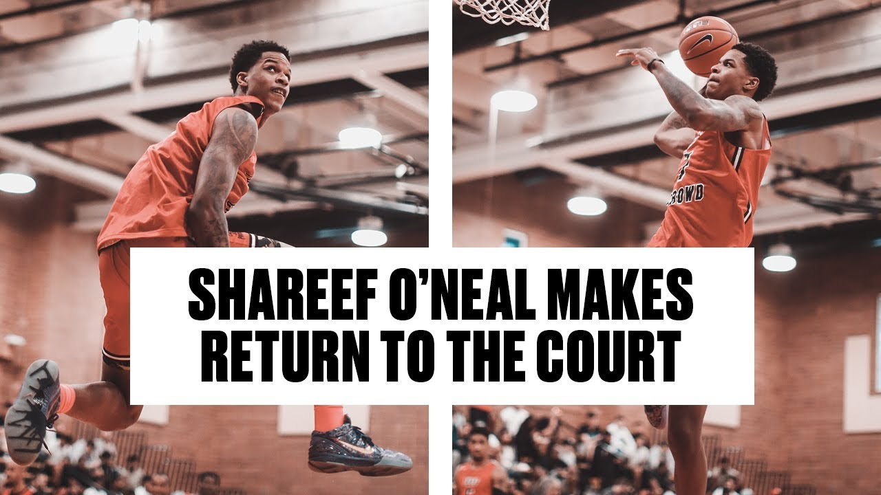 Shareef O'Neal is BACK! Teams Up With Shaqir O'Neal at Drew League - Full Highlights