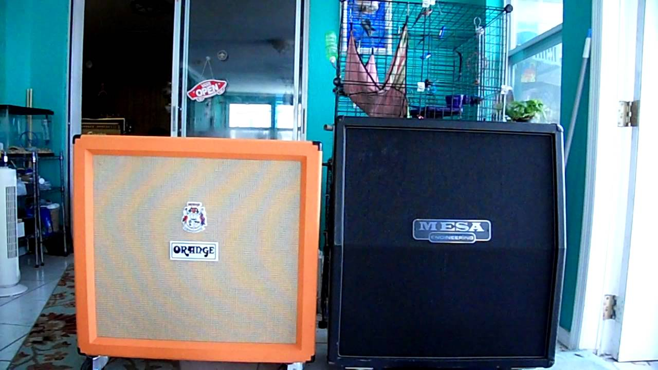 Orange 4x12 ~VS Mesa 4x12 ((VINTAGE 30's)) Sound Test! - YouTube